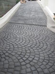 Piso de concreto acabado estampado iztapalapa distrito for Cemento estampado precio