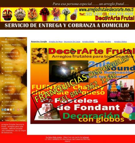 ARREGLOS FRUTALES DECORARTE FRUTAL • Saltillo Coahuila De