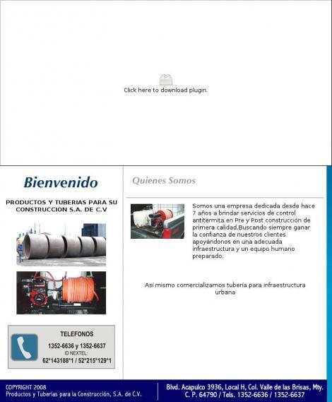 Productos y tuberias para su construccion s a de c v - Productos para desatascar tuberias ...