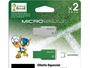 2 PACK MEMORIA FLASH 8 GB USB 2.0 MEXICO/BLANCO Y VERDE/FILE RESCUE/EDICION ESPECIAL BRASIL 2014
