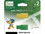 2 PACK MEMORIA FLASH 8 GB USB 2.0 BRASIL/AMARILLO Y VERDE/FILE RESCUE/EDICION ESPECIAL BRASIL 2014